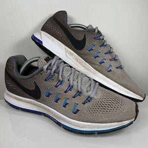 Nike Air Zoom Pegasus 33 Size UK 9 EU 44 Mens Grey Runnig Shoes