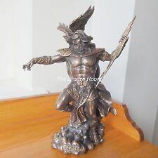 ZEUS il supremo sovrano degli dèi-MITOLOGICO GRECO Bronzo Figurina Ornamento