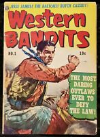 🍁 Western Bandits #1 (Avon Periodical 1952 ) Printed in Canada Canadian Edition