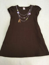 Gymboree Cowgirl At Heart 6 Brown Feather Necklace Dress Peace Heart Flower
