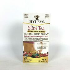 HYLEYS Slim Green Tea 5 Flavor Assortment 25 Tea Bags (100% Natural) Weight Loss