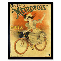 Baylac Metropole Cycles French Nouveau Advert Framed Wall Art Poster