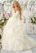 New White/Ivory Lace Bridal Gown Wedding Dress Custom size 4 6 8 10 12 14 16 18