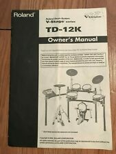 Roland Td-12K Owner'S Manual (Original)