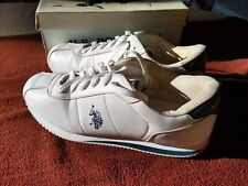 US PoloAssn Men's Athletic white Stripe Tennis Shoes Size12,5