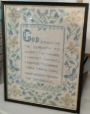 Vintage Sampler, God Grant Me The Serenity.