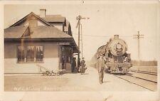 1916 RPPC NYC RR Station Beaver River NY Herkimer county