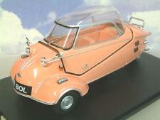 Excelente Oxford Diecast 1/18 Messerschmitt Kr200 Burbuja Coche Rosa 18mbc003
