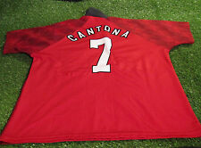 manchester united footbal large mans rare vintage 1997 cantona no7 home jersey