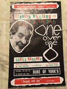 1960 Kenneth Williams One Over The Eight Original Theatre Poster