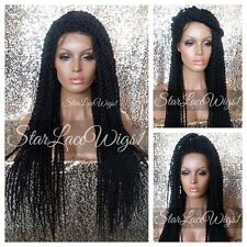 Long Twisted Lace Front Wig Senegalese Havana Marley Poetic Justice Box Braided