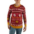 Harry Potter Gryffindor UGLY CHRISTMAS SWEATER Lion Holiday Red Weasley Bioworld