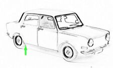 Reparaturblech - Chassisholm hinten rechts für Simca / Talbot 1000