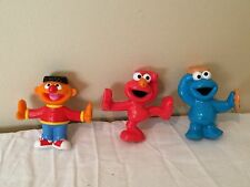 Sesame Street Elmo Ernie Cookie Monster Figures Toys Cake Toppers Lot Set