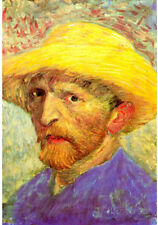 Vincent Van Gogh Self-Portrait with Straw Hat 3 Art Print Poster - 13x19