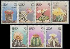 LAOS N°706/712** Fleurs, cactus TB,  1986 Flowers, cacti Sc#745-751 MNH
