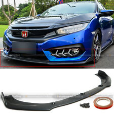 For 16-18 Honda Civic 10th 2DR 4DR CS Style Front Bumper Lip Body Kit Spoiler