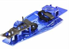 Integy Performance Billet Aluminum Chassis Kit Traxxas Rustler Bandit VXL Blue