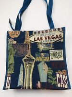 "Bovano USA Tapestry Shopping Tote Bag Purse Vegas Print 12"" X 12"""