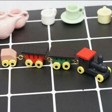 Funny Children 1:12 Dollhouse Miniature Kid's Toy Colored Wooden Train Length ^
