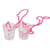2pcs Hens Do Girl Night Out Party Bride To Be Shot Glasses on a Chain Necklace