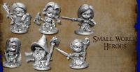 Reaper Miniatures Bones 4 Kickstarter - 6 Small World Heroes