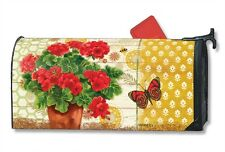 Magnetic MailWraps Potted Geraniums Mail Wrap #01487