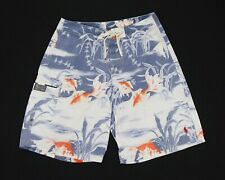 Polo Ralph Lauren Blue Floral Beach Surf Swim Board Shorts Mens 30