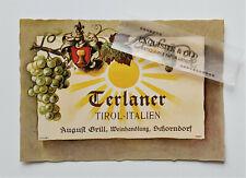 Terlaner Triol Italien August Grill Weinhandlung Schorndorf Weinetikett Ephemera