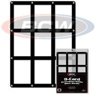 3 BCW 9 Baseball Trading Card Screwdown Holders w/ Black Border frame protector