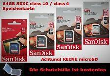 Sandisk Ultra 64GB SDXC class 10 UHS-1 Karte Sandisk 16GB class 4 SDXC SD Karte