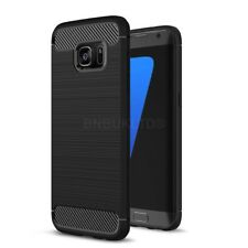 For Samsung Galaxy S6 Edge Carbon Fibre Gel Case Cover Shockproof Ultra Slim