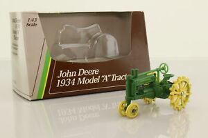 ERTL 5598; John Deere Model A Tractor; Green & Yellow; Excellent Boxed