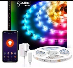 Gosund Alexa LED Strip, 5 m , RGB Smart WiFi LED Light Strip, 5050 LEDs