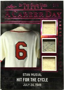 2020 Leaf ITG Used #CD-34 Stan Musial Triple Jersey Patch 2/4