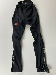Castelli Mens Large Black Thermal Cycling Tights Pants Zip Ankles USA