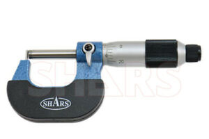 """SHARS 0-1"""" Tube Micrometer .0001"""" Graduation Carbide Tipped NEW P}"""