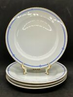 Set Of 4 Dinner Plates Hutschenreuther Selb LHS 2101 Art Deco Blue & White M