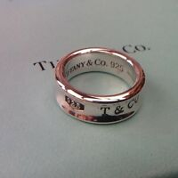 Women's Tiffany & Co 1837 Band Ring Sterling Silver Size K Genuine Rrp215.