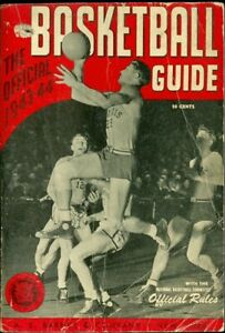 1943-44 Official Basketball Guide NCAA Gene Vance Illinois on Cover A.S. Barnes