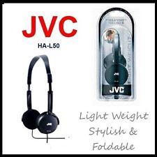 JVC HA-L50-B Foldable Light Weight Headphones - Black (UK Stock)