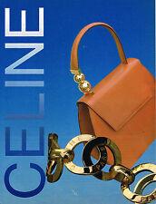 PUBLICITE ADVERTISING 074  1993  CELINE  boutique maroquinerie sacs