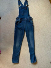 Girls M&S jeans style dungarees - age 10