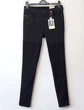 Nuevo M&S Indigo by Lulu Kennedy Skinny Jeans Pierna ~ tamaño 12 de largo ~ negro de dos tonos