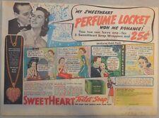 Sweetheart Soap Ad: My Sweetheart Perfume Locket Won Me Romance! 1930's