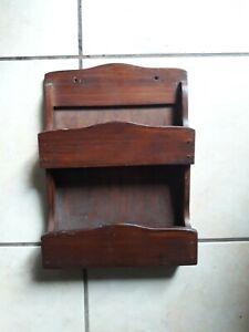 Mensola in legno porta lettere porta spezie mensola a parete due scomparti