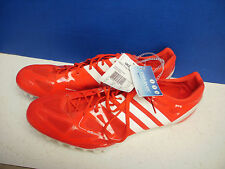 ADIDAS~Red & White Coolever ADIZERO PRIME ACCEL TRACK Running SHOES~Men's 14