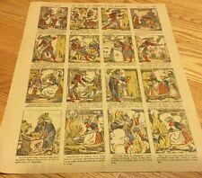 Pellerin Imagerie D'Epinal No 818 Gold  Le LOUP La Chèvre Sis BIQUETS Cartoon