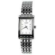 LADIES STAINLESS STEEL CITIZEN DRESS WATCH WITH WHITE DIAL EJ6050-58A
