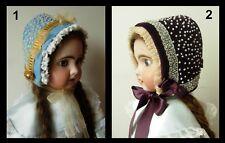 Chapeau poupée ancienne Jumeau SFBJ Kestner Halbig Heubach hat antique doll